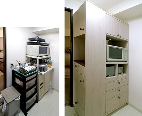 【特注オーダー】機能的なキッチン収納|施工例|