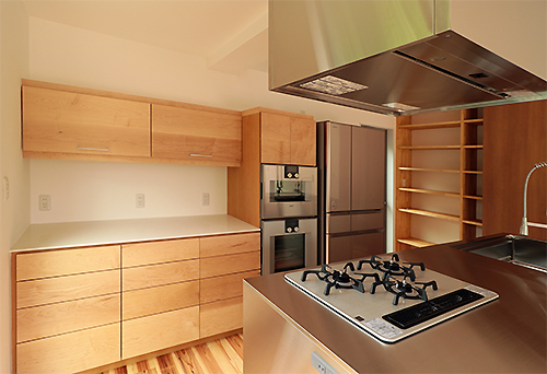 オーダーキッチン収納|ハードメープル|ガゲナウオーブン|施工例