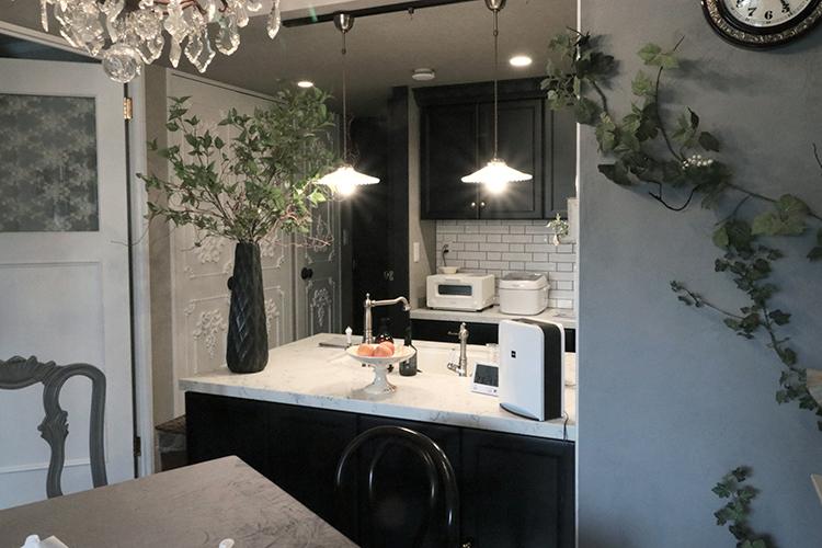 オーダーキッチン実例|東京都|板橋区|黒いキッチン