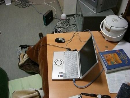 ノートPCと玄箱