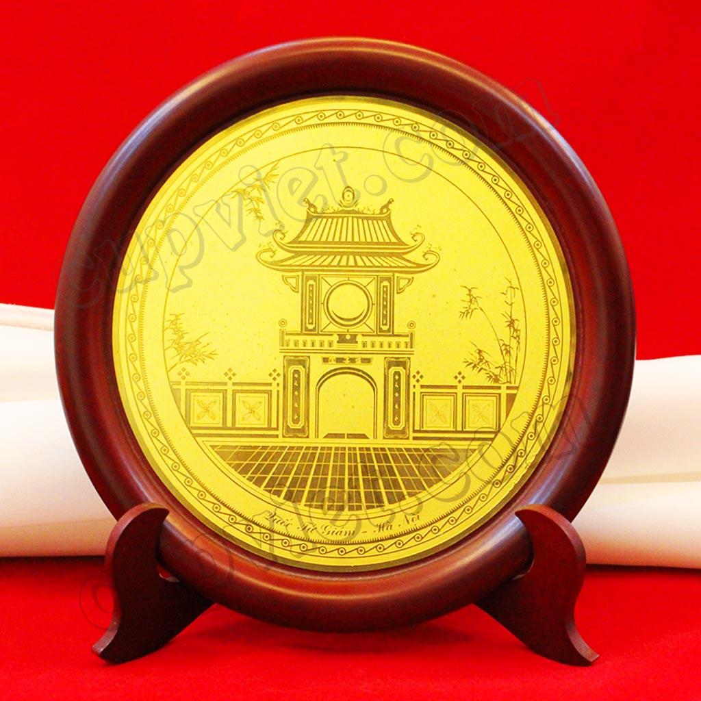 Chuyên cung cấp, đúc đĩa đồng hun giả cổ, làm đĩa đồng khuê văn các