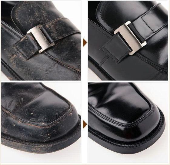 革靴カビ取りビフォア