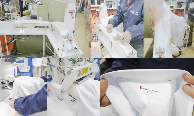 他店で縮んでしまったワイシャツでも復元する機械(AK-656)を導入
