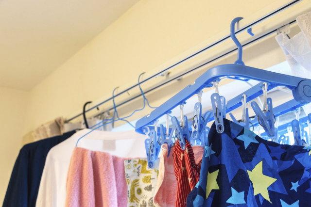 洗濯ものを早く乾かす