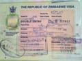 ジンバブエのダブルエントリービザ