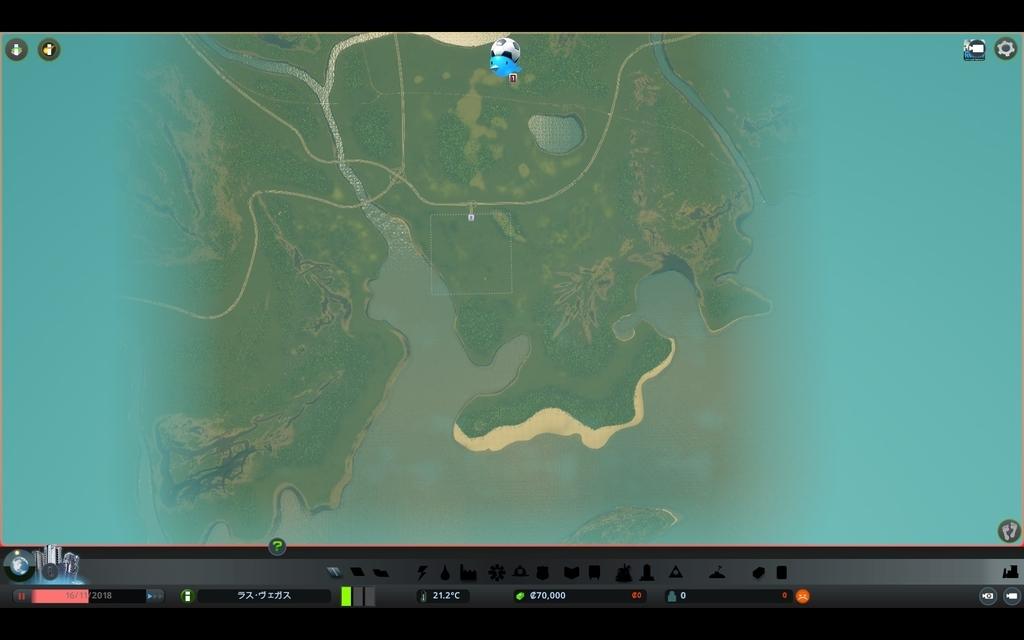 Cities:SkylinesのDiamond Coastの全体画像