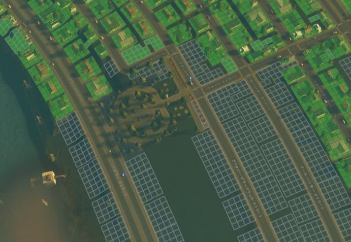 Cities:Skylinesにおける住宅地の公園の配置