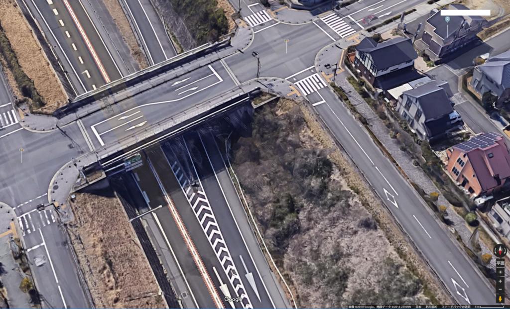 京奈和自動車道の半地下部分