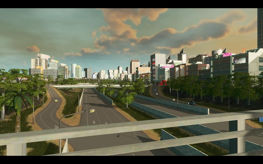 Cities:Skylinesの半地下高速道路のスクリーンショット