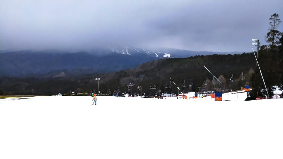 鷲ヶ岳スキー場のゲレンデから撮った風景