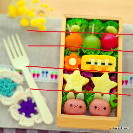 詰めやすいお弁当箱 きれいな詰め方  お弁当をきれいに詰めるコツ