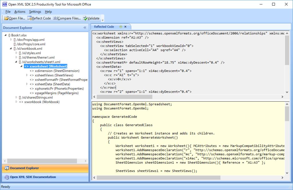 Open XML SDK を使って Excel ファイルを操作する (1) - 準備編