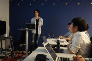 社長の青野も参加 (2013年の発表会)