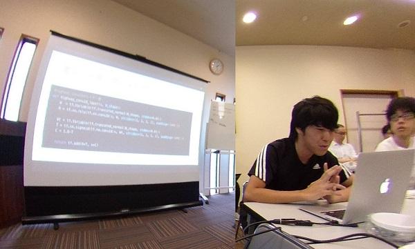 西川さんの発表風景