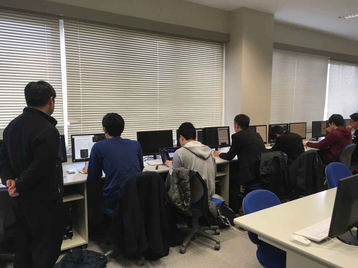 函館高専での U-16 プログラミングコンテスト講習会の様子