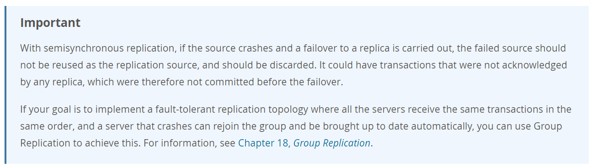 MySQL 公式マニュアルの注意書き