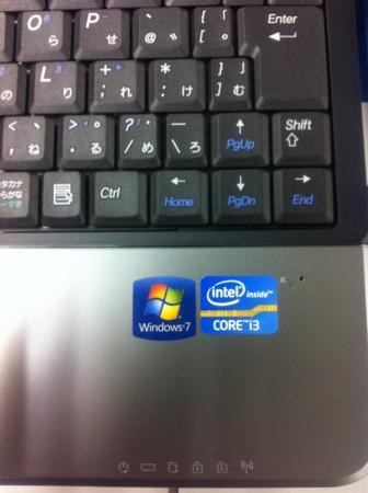 LuvBook S シリーズ intel CORE i3 シール