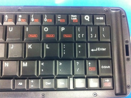 折りたたみ式 Bluetoothキーボード右側