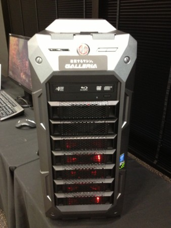 GALLERIA XF-SLI ウルトラハイエンドゲームパソコン 正面