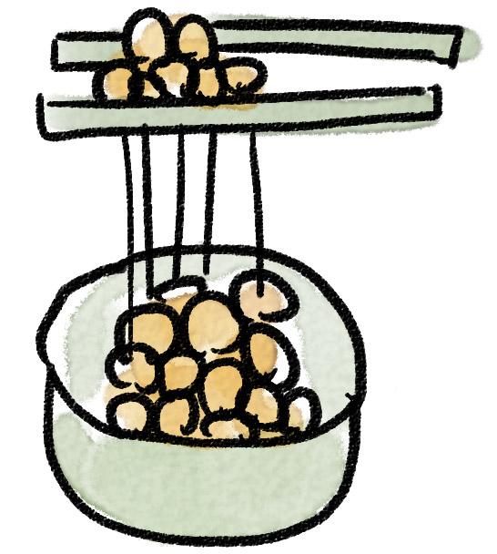 納豆のラストの画像