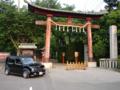 愛車「櫻花」於鷲宮神社之圖