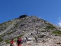 雄山山頂に続く登山道之圖
