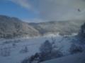 青空を望む冬の立山山麓之圖