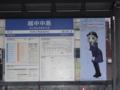富山ライトレール越中中島駅with鉄道むすめ大月みーな之圖