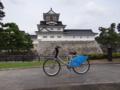 富山市のレンタサイクルと富山城之圖