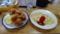島田食堂のオムライス(中)及び鶏唐揚げ之圖