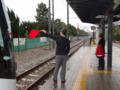 富山ライトレール試運転車両接近第壱圖