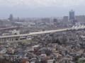 富山駅付近で擦れ違う北陸新幹線之圖