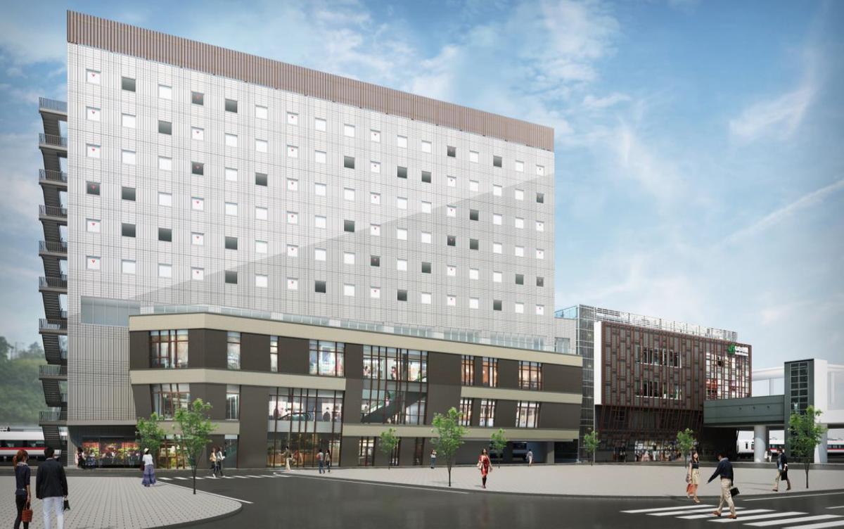 いわき駅南口開発計画、JR東日本が駅ビル増築とホテル計画に着手 ...