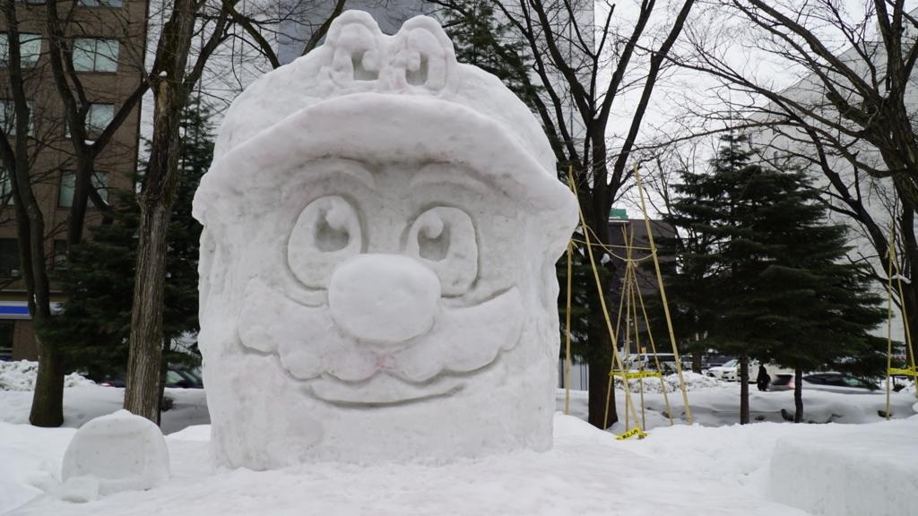 マリオ雪像