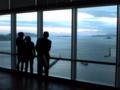 高松(香川)駅前のビルの展望台より瀬戸内海を眺める