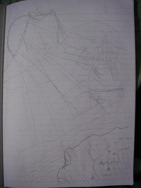 新幹線の中でうとうとしながら描いた落書き1