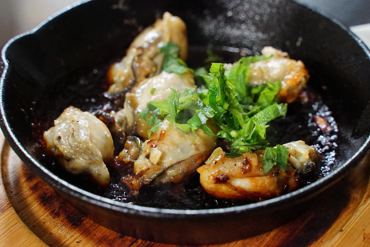 醤油バター大葉牡蠣