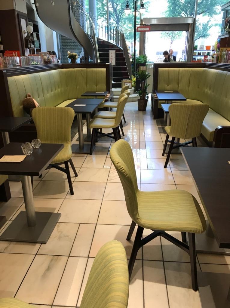 ブックハウスカフェのカフェコーナー