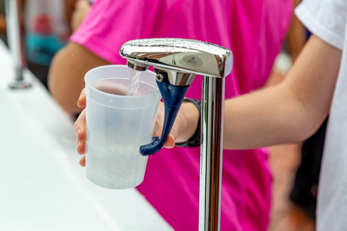 水分を摂取する