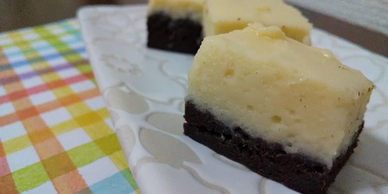 余ったクリームチーズで*ブラウニーチーズケーキ