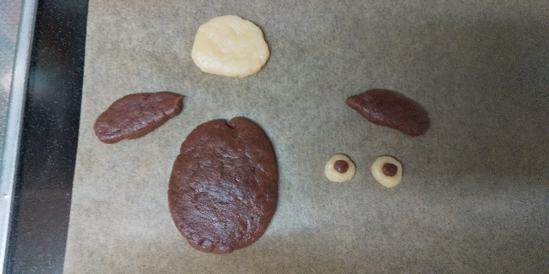 私の基本クッキー生地*で、ひつじのショーンクッキー!