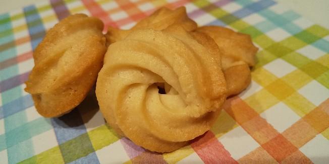 バター無し◎ 搾り出しクッキー◎ キレイにできた!