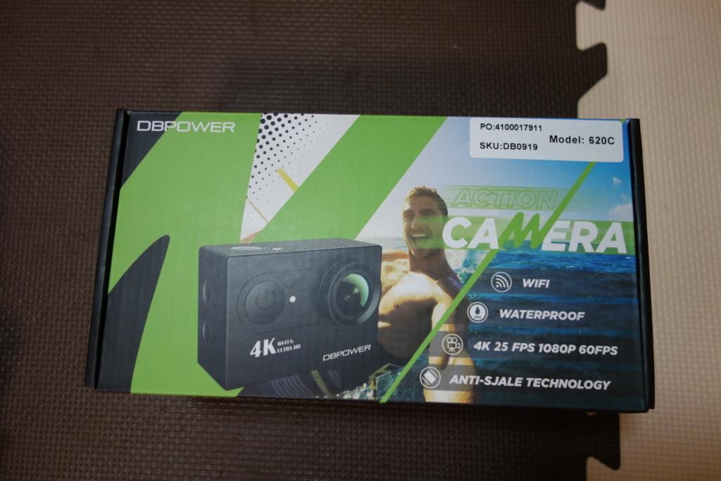 格安アクションカメラDBPOWER 4K 12MP 梱包