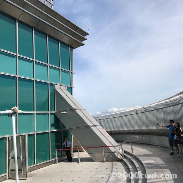 台北101の91階屋外展望台