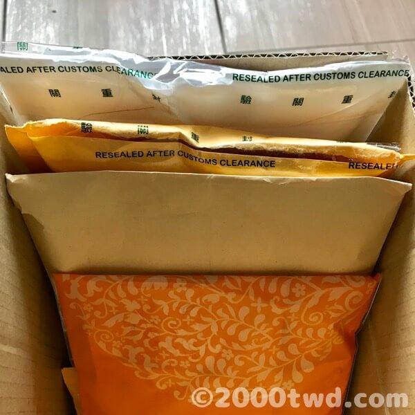 外箱だけでなくメール便の封筒も開封確認済み