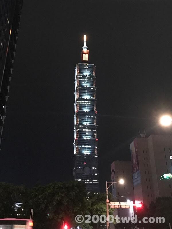 夜の台北101