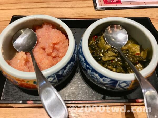 博多天ぷらやまみの明太子食べ放題