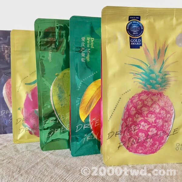 陽光菓菓の台湾ドライフルーツ5種類セット