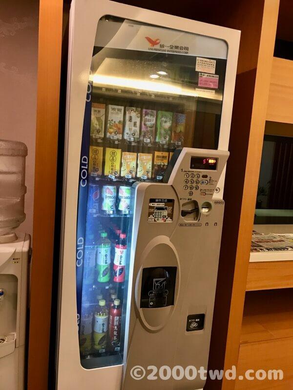 良心的な価格の自動販売機