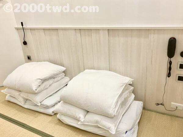 台湾では珍しい畳敷きと布団